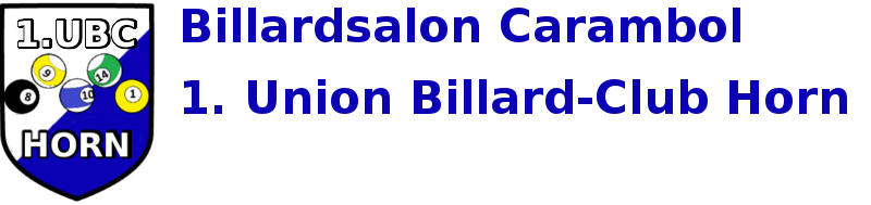 Billardsalon Carambol  & 1. Union Billard-Club Horn logo
